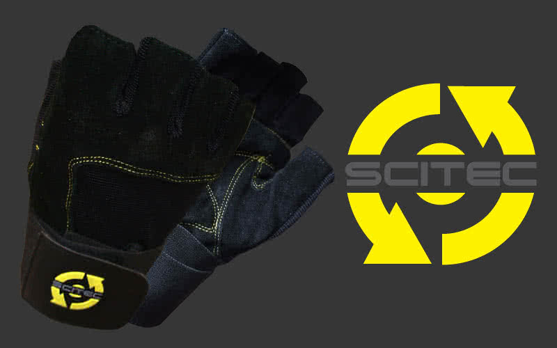 Scitec Nutrition Yellow Style gloves pair