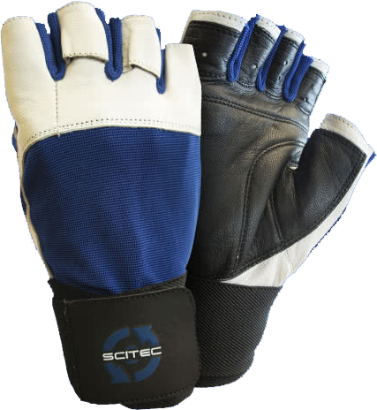 Scitec Nutrition Power Blue gloves pair